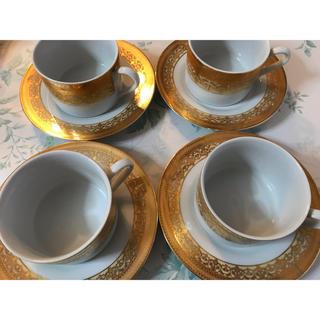 ゴールド プレート3種&スープカップ 4人分 パーティ ディナー セッティング