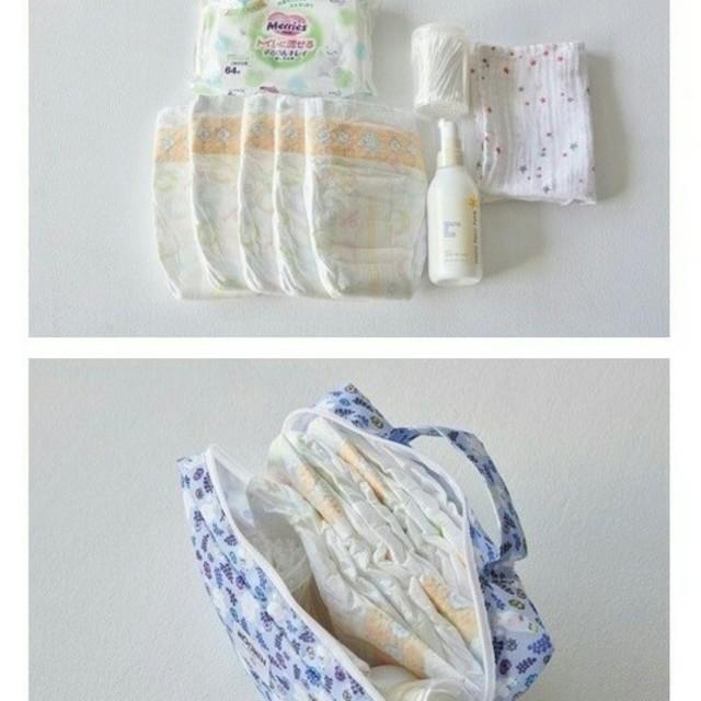ムーミンベビー マルチお世話ポーチ キッズ/ベビー/マタニティのおむつ/トイレ用品(ベビーおむつバッグ)の商品写真