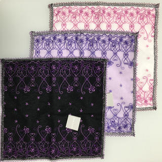ハナエモリ(HANAE MORI)の新品 HANAE MORI ハンドタオル ハンカチ 3枚セット(ハンカチ)