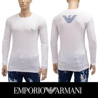エンポリオアルマーニ(Emporio Armani)の31EMPORIO ARMANIホワイト長袖 ロンTシャツXL(Tシャツ/カットソー(七分/長袖))