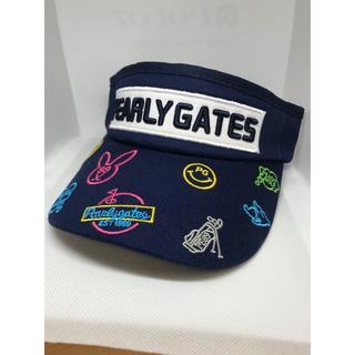 パーリーゲイツ(PEARLY GATES)の[パーリーゲイツ] PEALY GATES 紺 サンバイザー 男女兼用(サンバイザー)
