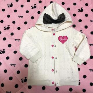 309e8a2897703 バービー(Barbie)のBarbie パーカー 90㎝ ホワイト(ジャケット/上着)