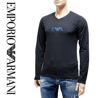 エンポリオアルマーニ(Emporio Armani)の21EMPORIO ARMANIブラック長袖ロンTシャツS(Tシャツ/カットソー(七分/長袖))