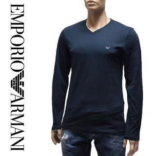 エンポリオアルマーニ(Emporio Armani)の20EMPORIO ARMANIネイビー長袖ロンTシャツS(Tシャツ/カットソー(七分/長袖))