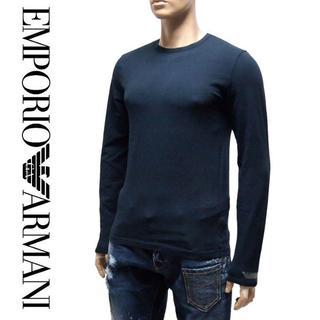 エンポリオアルマーニ(Emporio Armani)の25EMPORIO ARMANIネイビー長袖ロンTシャツS(Tシャツ/カットソー(七分/長袖))