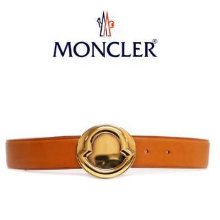 モンクレール(MONCLER)の4 MONCLERブラウンレザーベルト size70 (ベルト)
