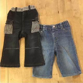 シャマ(shama)の子供服 90㎝ ジーンズ 長ズボン パンツ ボトムス ブラック デニム ジーンズ(パンツ/スパッツ)
