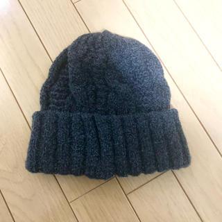 カシラ(CA4LA)のカシラ ニット帽 ネイビー フリーサイズ 新品(ニット帽/ビーニー)
