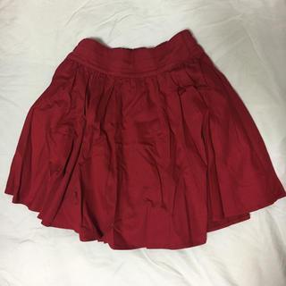 ローリーズファーム(LOWRYS FARM)の赤 スカート(ミニスカート)