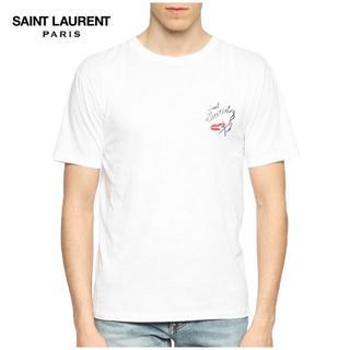 サンローラン(Saint Laurent)の1SAINTLAURENTPARISTシャツホワイトsizeM(Tシャツ/カットソー(半袖/袖なし))