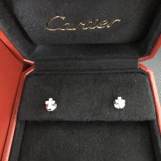 Cartier - カルティエ ピアス ダイヤ クロス k18 WG 正規品 ダイヤモンド 750