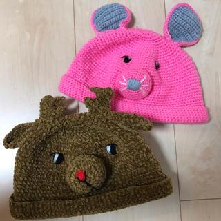アナップキッズ(ANAP Kids)のANAP ニット帽  ネズミ&トナカイ(帽子)