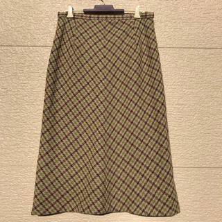 ニジュウサンク(23区)の美品 23区 スカート ボルドー グリーン ベージュ 44(ロングスカート)