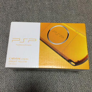 プレイステーションポータブル(PlayStation Portable)のPSP ブライトイエロー PSP-3000BY メーカー生産終了 新品未使用(携帯用ゲーム本体)