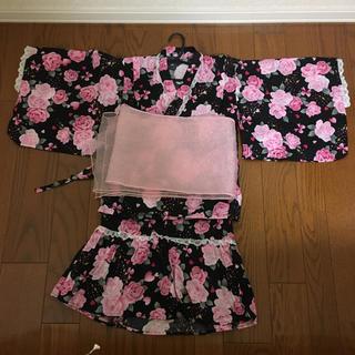 しまむら - ガーリーなスカート型浴衣[150サイズ]