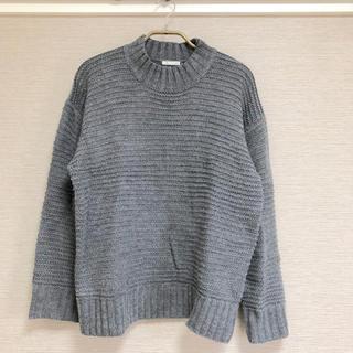 ジーユー(GU)のGU ジーユー 完売 ガータービッグクルーネックセーター グレー XS(ニット/セーター)