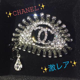 CHANEL - 激レア シャネル CHANEL 02A ラインストーン eye ピンブローチ ✨