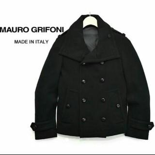 バーニーズニューヨーク(BARNEYS NEW YORK)の美品 定価6万 【MAURO GRIFONI】 メルトンウール ショートPコート(ピーコート)