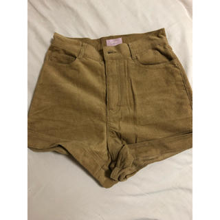juemi/High-Waisted Corduroy Shorts(ショートパンツ)