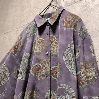 [used]purple paisley design shirt.(シャツ/ブラウス(長袖/七分))