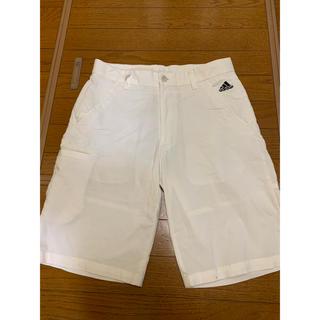 アディダス(adidas)のadidasホワイトハーフパンツ76(ショートパンツ)