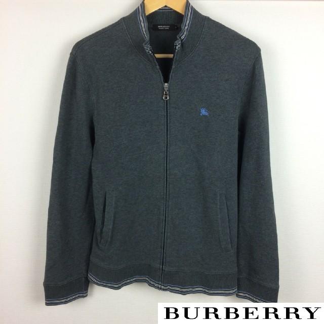 BURBERRY BLACK LABEL(バーバリーブラックレーベル)の美品 BURBERRY BLACK LABEL 長袖スウェット グレー サイズ2 メンズのトップス(スウェット)の商品写真
