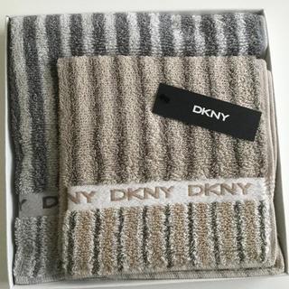 ダナキャランニューヨーク(DKNY)の新品☆DKNY ダナキャラン メンズ タオルハンカチ 2枚セット(ハンカチ/ポケットチーフ)