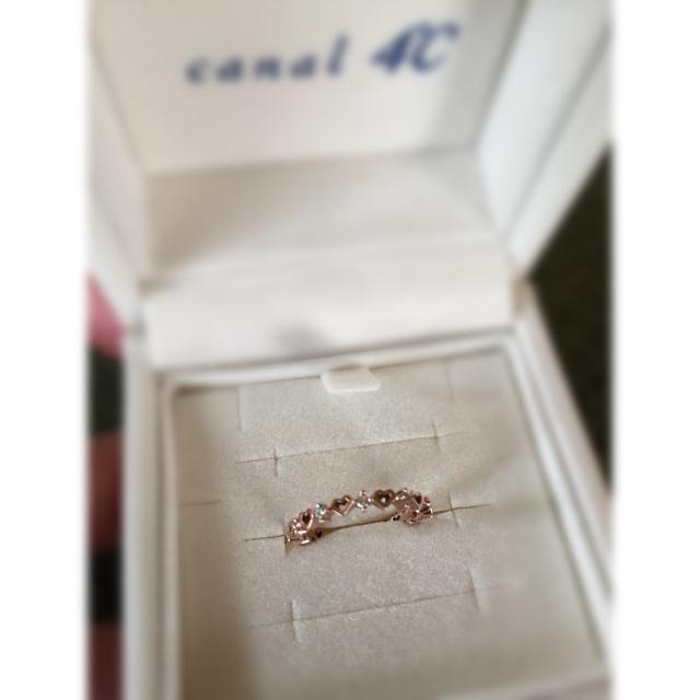 canal4℃(カナルヨンドシー)のcanal4℃ k10ピンクゴールド ピンキーリング #1 レディースのアクセサリー(リング(指輪))の商品写真