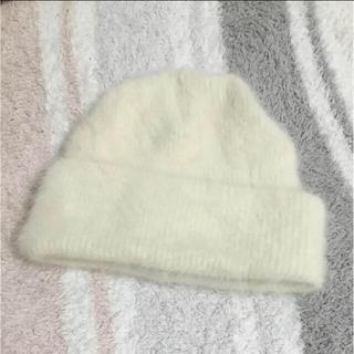 パサージュミニョン(passage mignon)のパサージュミニョン ふわふわニット帽(ニット帽/ビーニー)