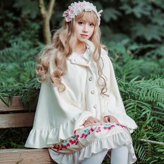 ロリータ Lolita 姫系ポンチョコート アウター ウサギ リボン フリル (ポンチョ)