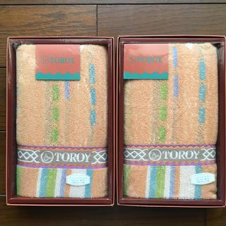 トロイ(TOROY)のTOROY フェイスタオル2枚(タオル/バス用品)