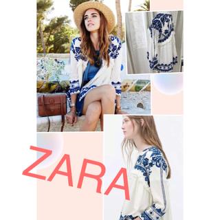 ザラ(ZARA)のZARA 刺繍トップス 日本未入荷 レア(チュニック)