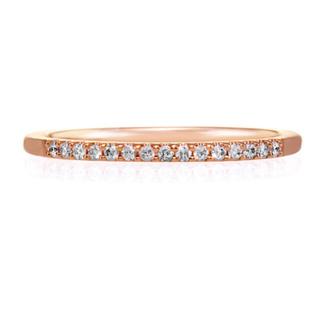 ヨンドシー(4℃)の4℃ ダイヤモンド ハーフエタニティリングk18(リング(指輪))