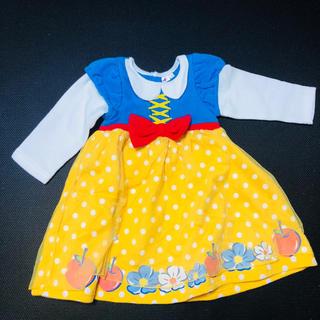 Disney - 白雪姫 ドレス♡裏起毛ワンピース 100 ハロウィン コスプレ コスチューム