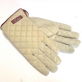 マッキントッシュフィロソフィー(MACKINTOSH PHILOSOPHY)の新品 キルティング 羊革 ナイロン 手袋 マッキントッシュ スマホ対応 ベージュ(手袋)