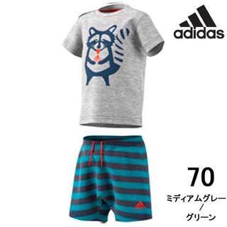 アディダス(adidas)の【adidas】可愛いアライグマのtシャツとズボンセット(その他)