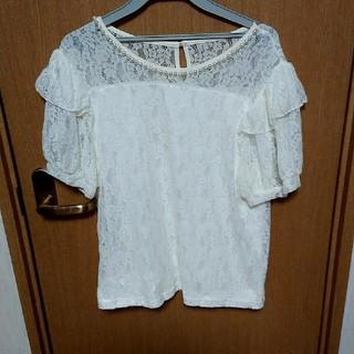 シマムラ(しまむら)の3L レースの服(カットソー(半袖/袖なし))