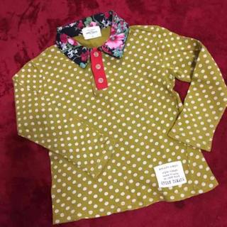 グリーントマト(GREEN TOMATO)の美品 花柄×ドット派手シャツ(Tシャツ/カットソー)