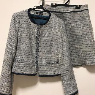 インディヴィ(INDIVI)のINDIVI ツイード スカートスーツ(スーツ)