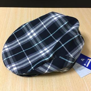バーバリー(BURBERRY)のバーバリーブルーレーベルチェック柄ハンチング(ハンチング/ベレー帽)