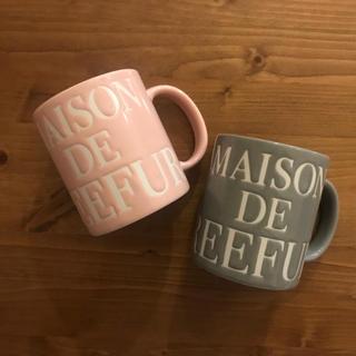 メゾンドリーファー(Maison de Reefur)のREEFUR❤ロゴマグカップ(グラス/カップ)