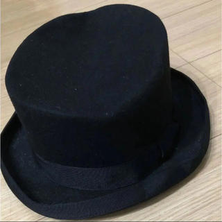 カシラ(CA4LA)のハット シルクハット 毛 リボン 黒 ウール(ハット)