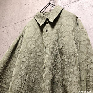 [used]khaki leaf design shirt.(シャツ)