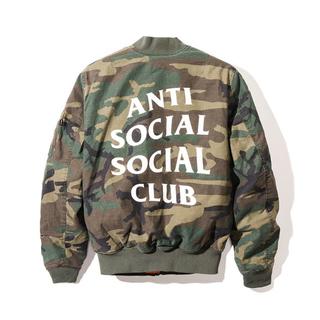 アンチ(ANTI)の希少XL ANTI SOCIAL SOCIAL CLUB  ALFA MA1(フライトジャケット)