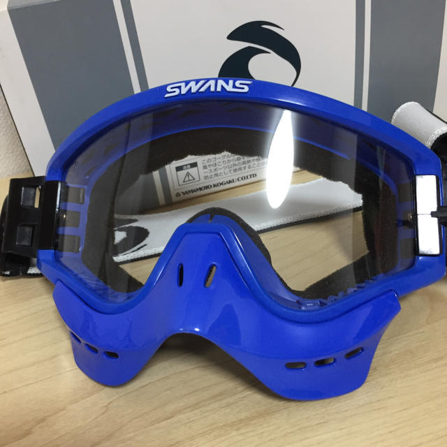 SWANS(スワンズ)のスワンズ ゴーグル ネイビーブルー 自動車/バイクのバイク(装備/装具)の商品写真