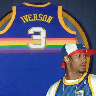 アディダス(adidas)のAllen Iverson Denver Nuggets jersey(バスケットボール)