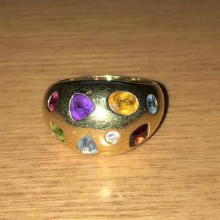 K 18色石デザインリング(リング(指輪))