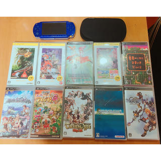 プレイステーション(PlayStation)のPSP ソフト10本 メモリーカード ケース(携帯用ゲーム本体)