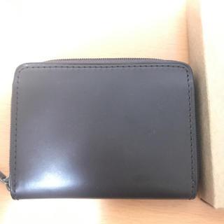 ムジルシリョウヒン(MUJI (無印良品))のイタリア産ヌメ革ラウンドファスナー小銭・カードケース(コインケース/小銭入れ)
