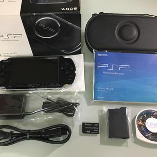 プレイステーションポータブル(PlayStation Portable)の美品 PSP-3000 ピアノブラック(携帯用ゲーム本体)